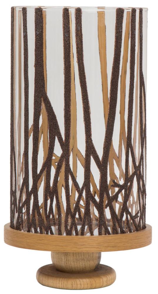 Подсвечник Stopper Glass/wood / HA11239 (Stopper), 04677