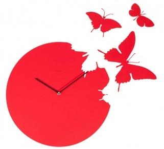 Часы настенные BUTTERFLY Red, 00231