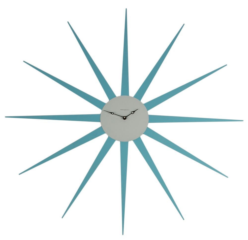 Часы настенные STAR Lacquered Metall Frame Sky-Blue Dial White 372, 00277