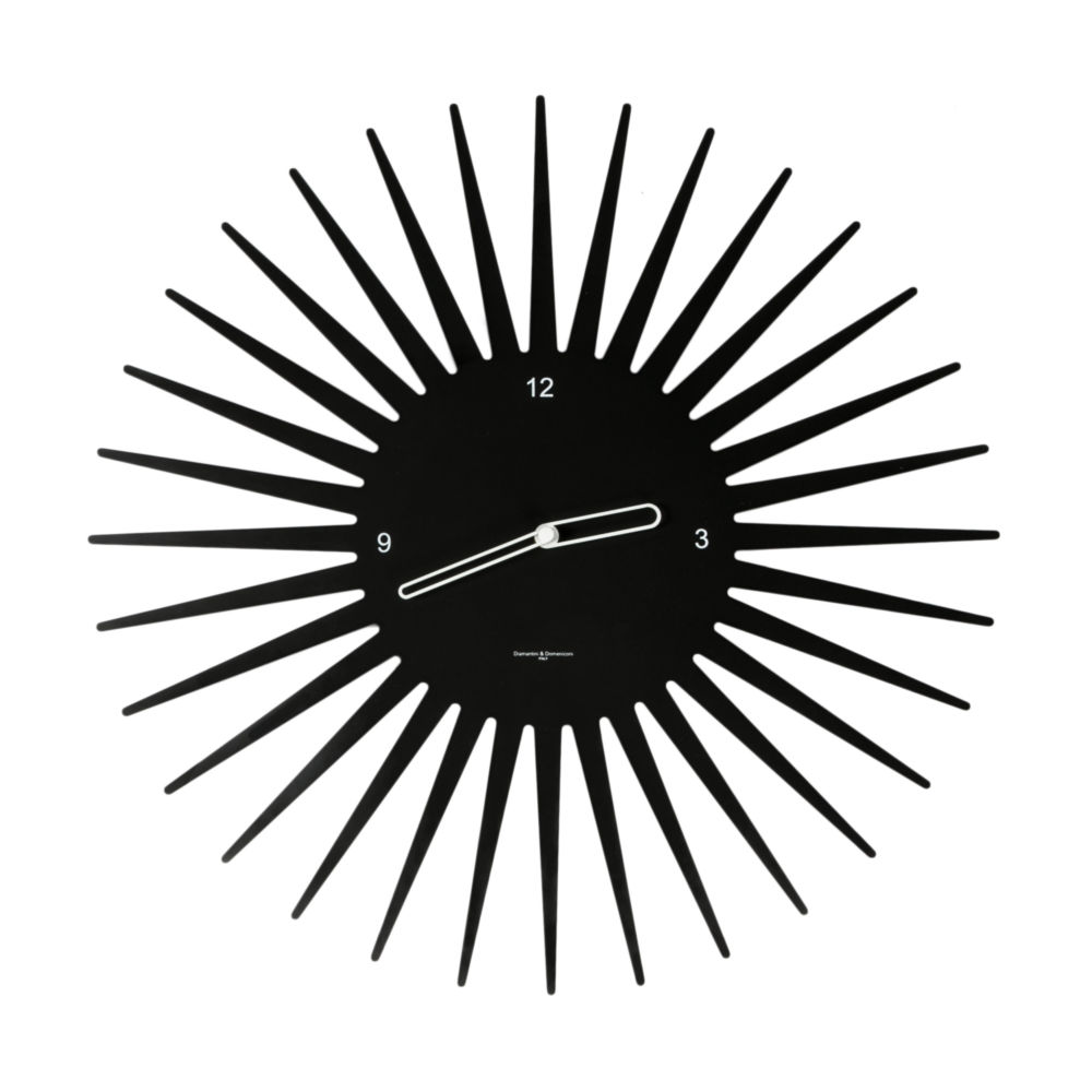Часы настенные SUN Laquered Metal Frame Black, 00283