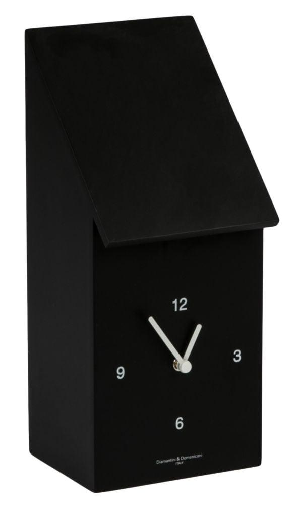 Часы настенные с кукушкой HALF TIME Laquered wooden frame/ Black/ Dial white/ White bird / 212 (HALF, 00178
