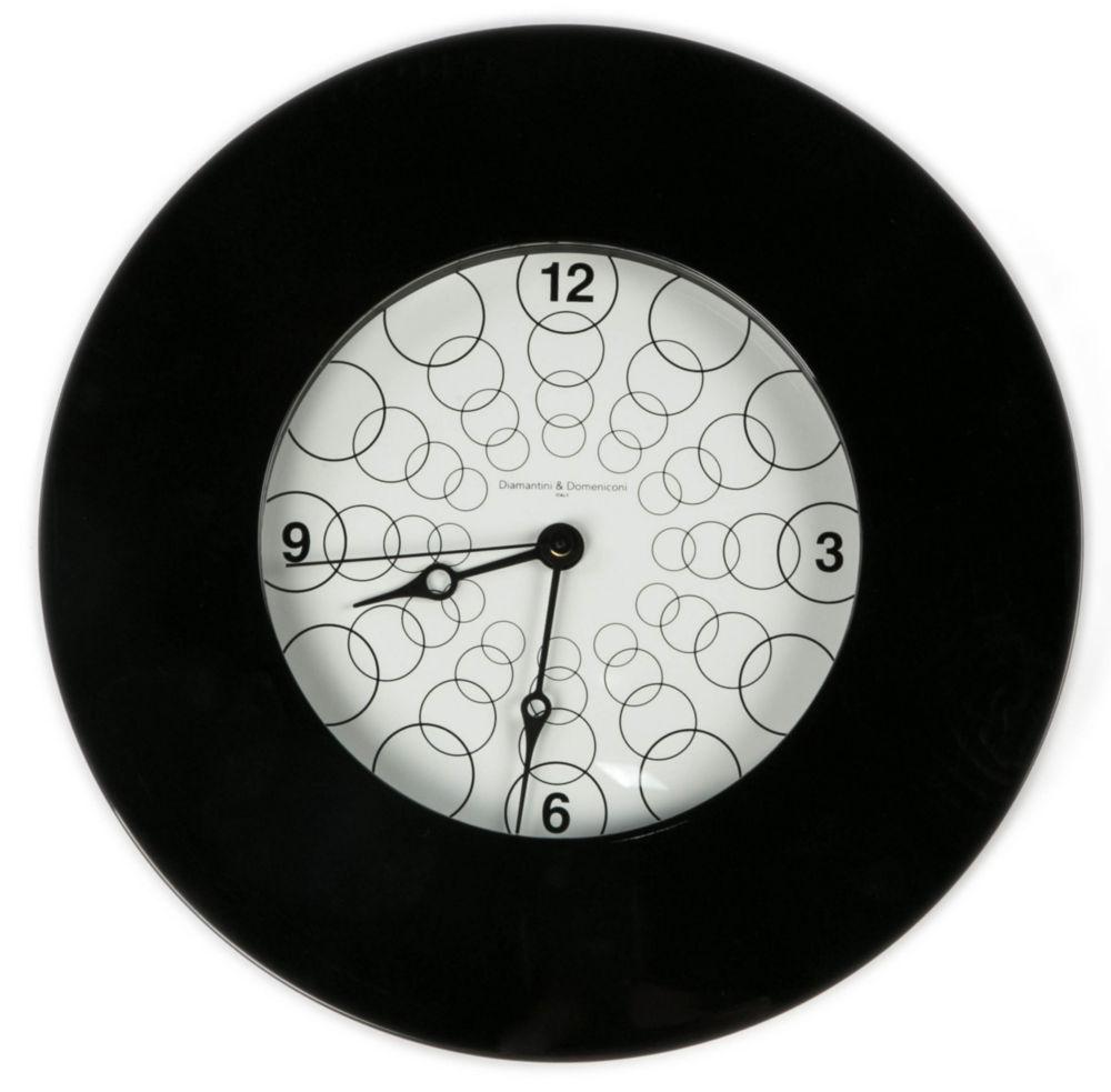 Часы настенные TARGET Round Wooden Frame Black, 00212