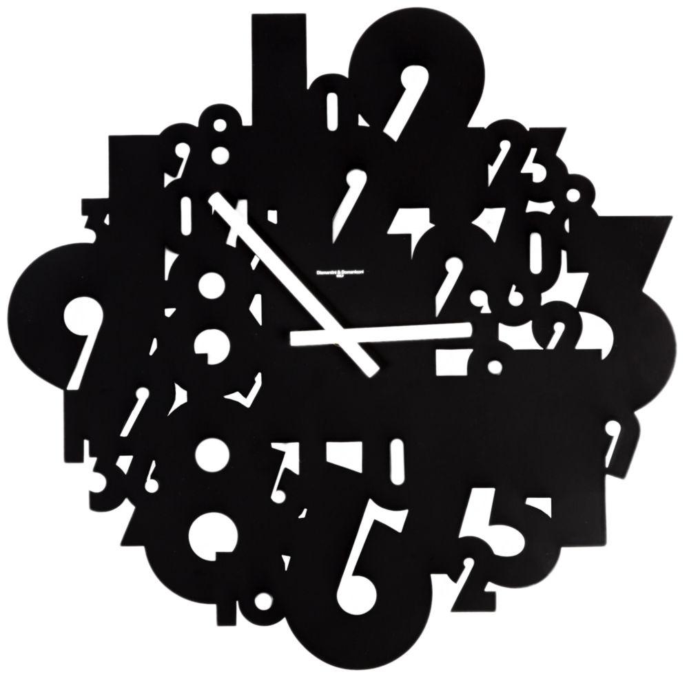 Часы настенные TIMELESS Lacquered Metall Frame Black, 00324