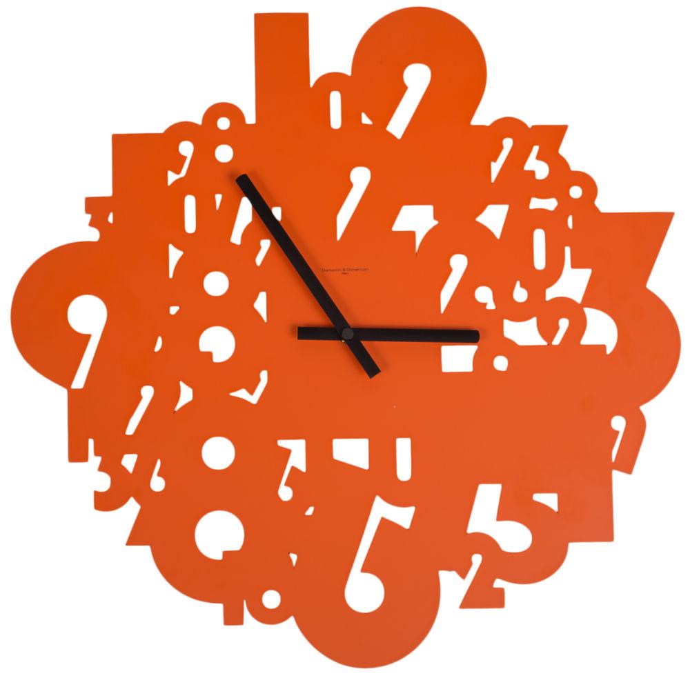 Часы настенные SHOWTIME Lacquered Metall Frame Orange, 00330