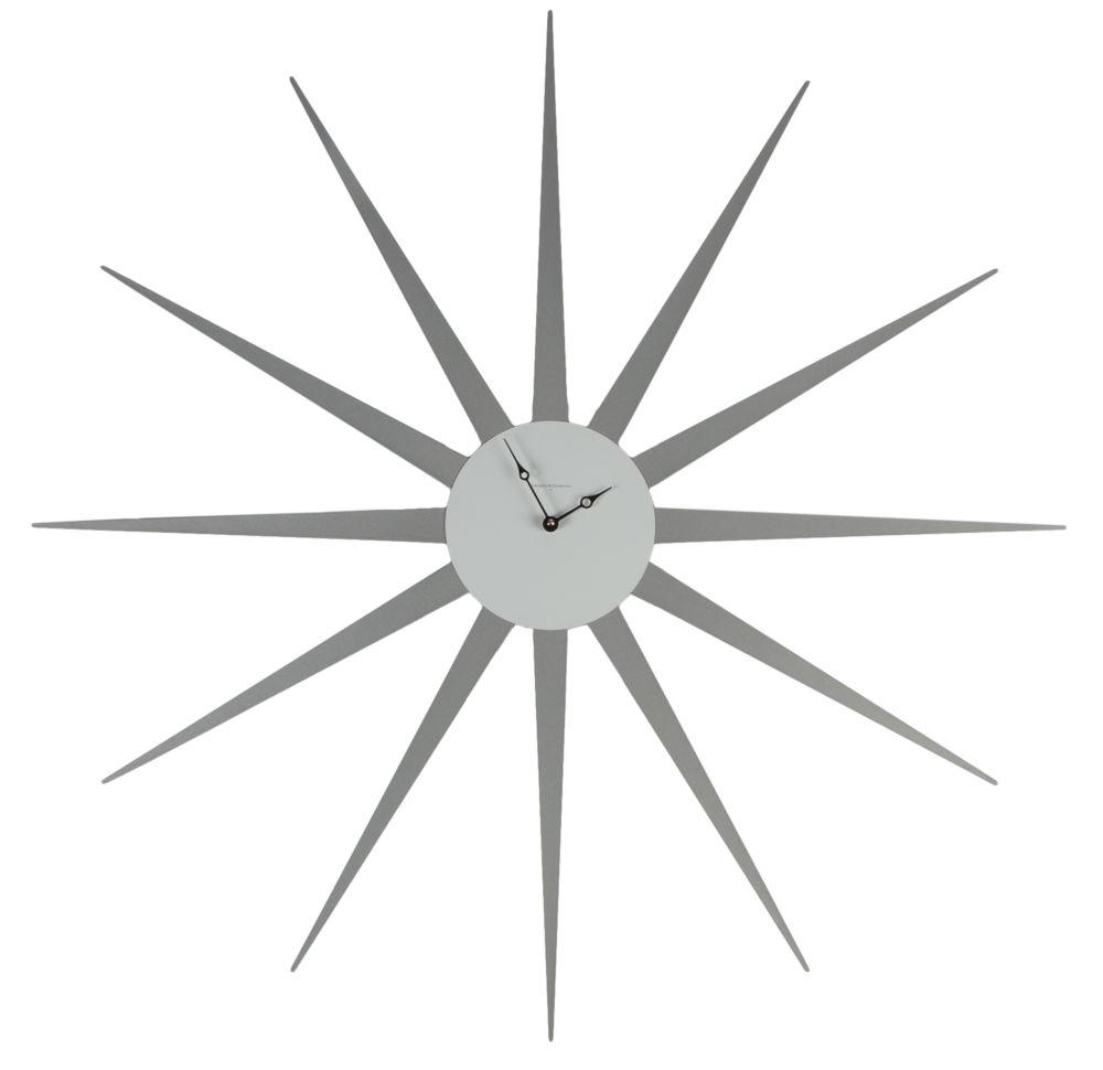 Часы настенные STAR Lacquered Metall Frame Aluminium Dial White, 00267