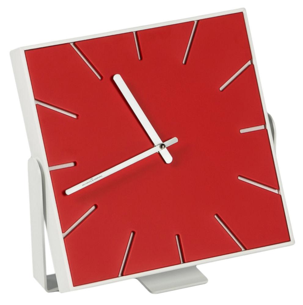 Купить Часы настенные (настольные) SNAP Small Laquered Red в интернет магазине дизайнерской мебели и аксессуаров для дома и дачи