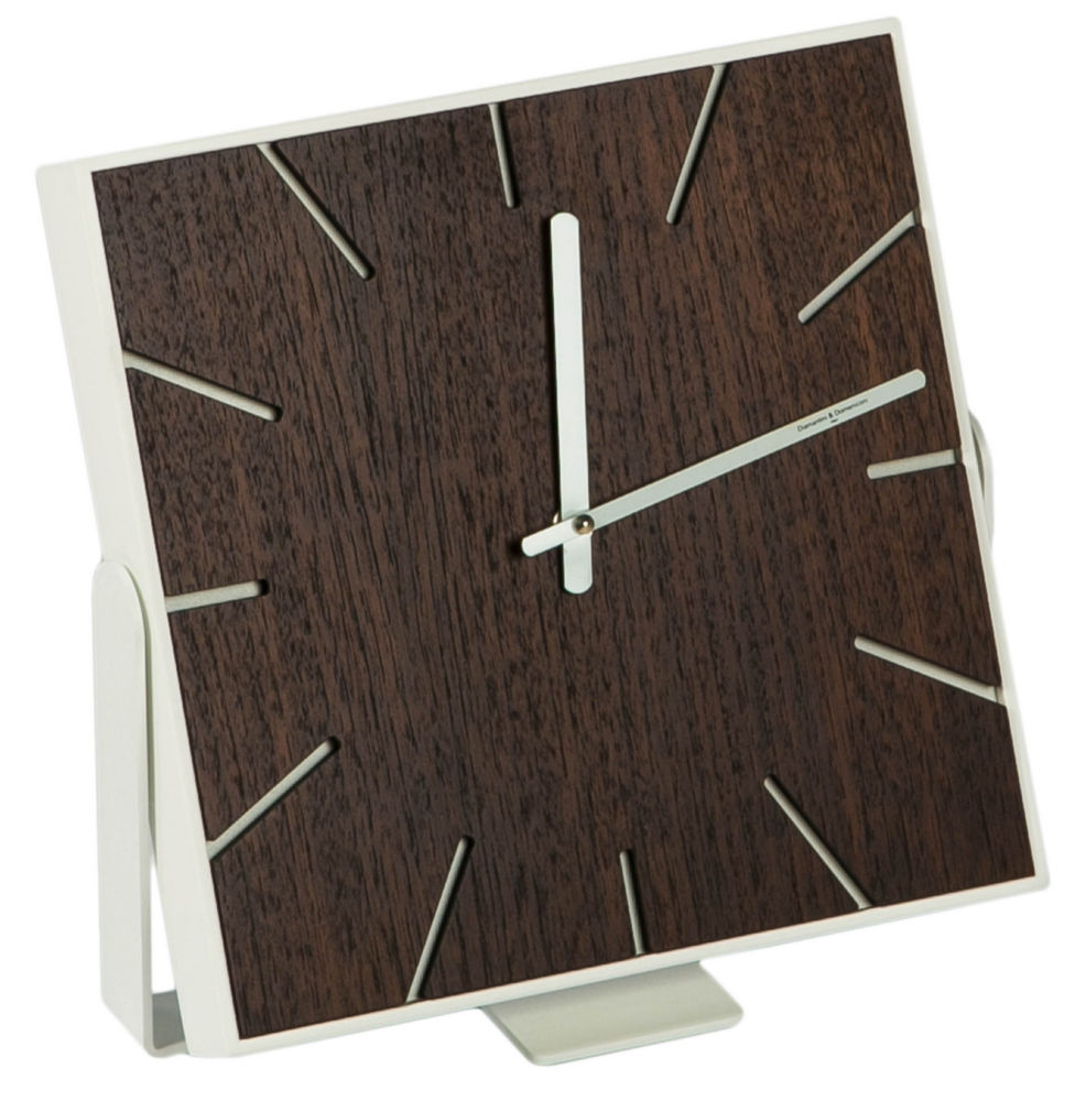 Купить Часы настенные (настольные) SNAP Small Wood Wengee в интернет магазине дизайнерской мебели и аксессуаров для дома и дачи