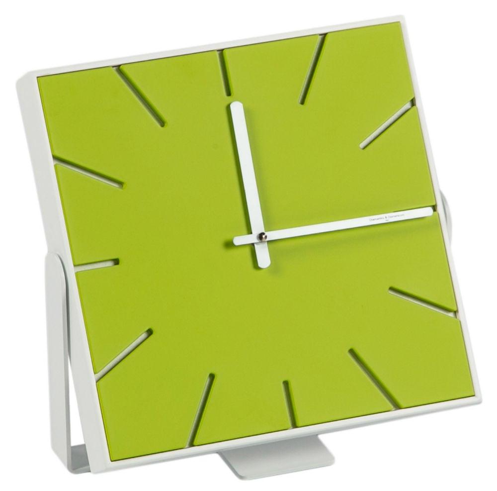 Часы настенные (настольные) SNAP Small Lacquered Acid Green / 1719 (SNAP Small), 00190