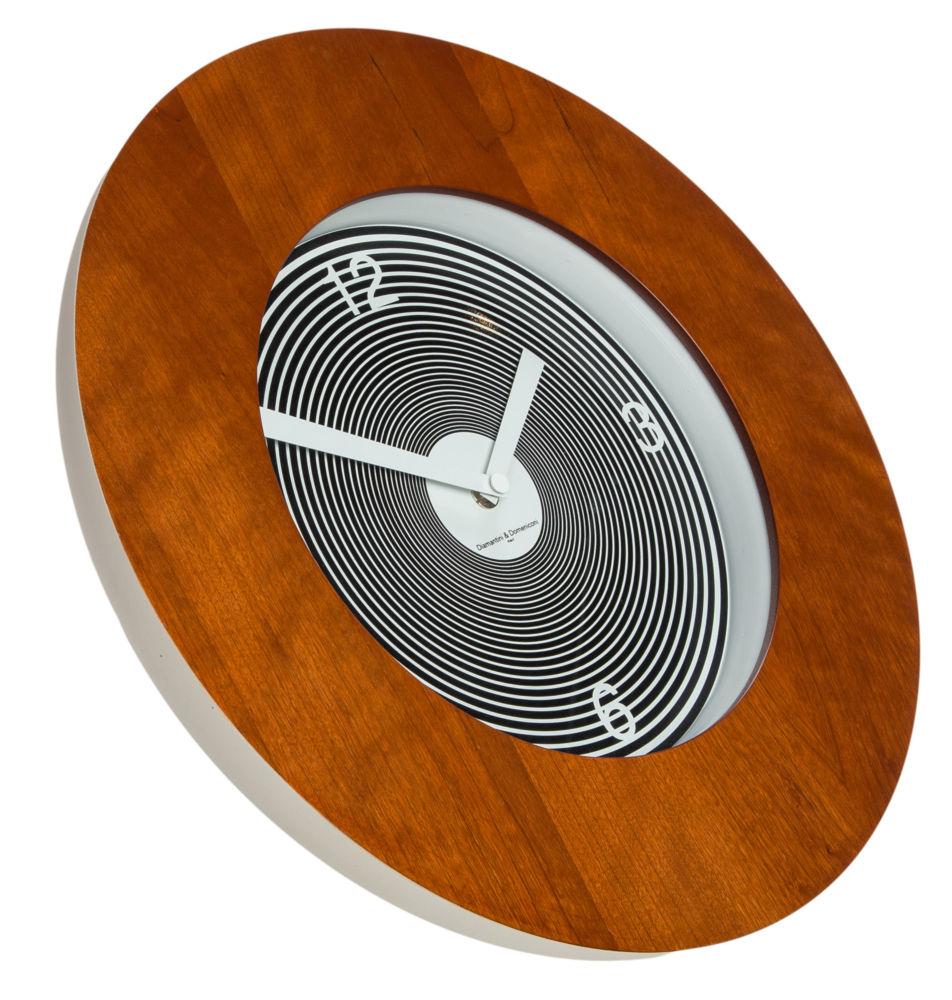 Часы настенные TARGET Round Wooden Frame Cherry, 00206