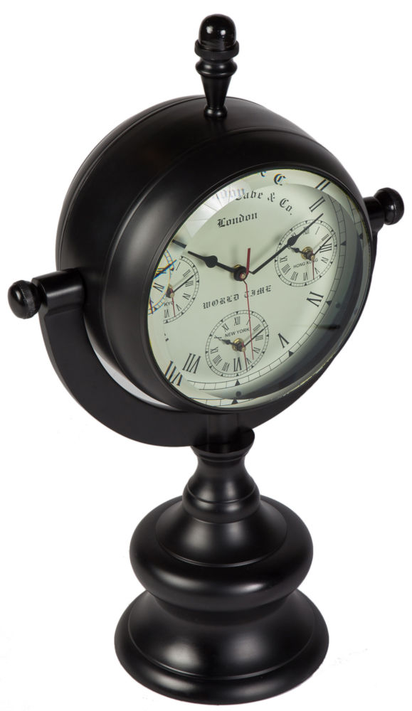 Часы настольные CLOCK WORLD ALUMINIUM / 44936 (CLOCK WORLD), 05848