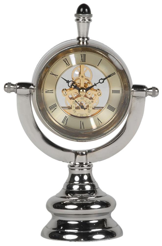 Часы настольные TABLE CLOCK ALUMINIUM 42562, 05866