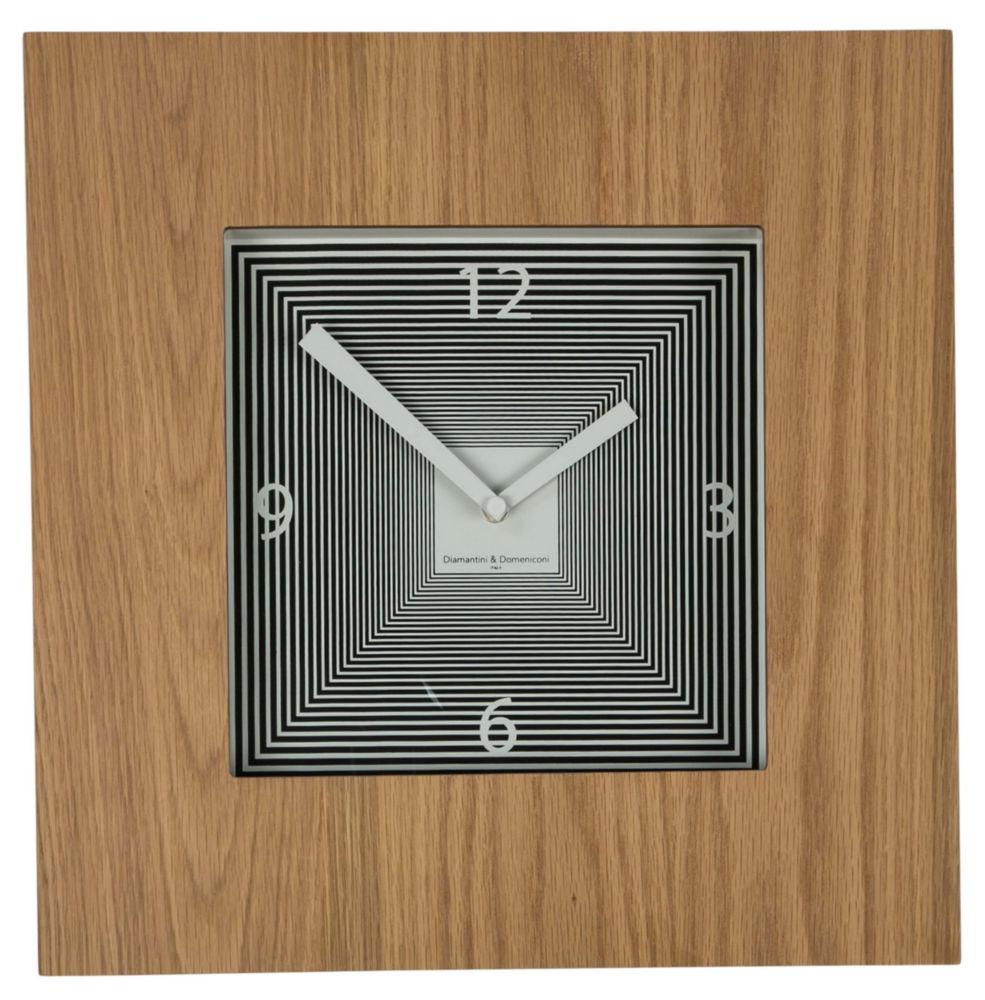 Часы настенные TARGET Square Wooden Frame Bleached Oak, 00221