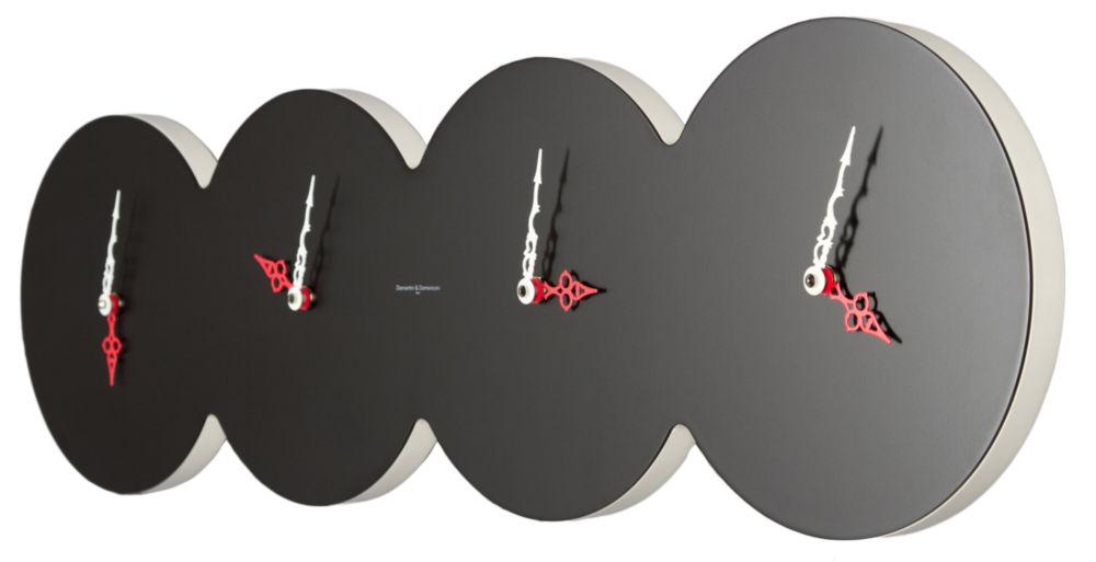 Часы настенные CUATRO Lacquered Black