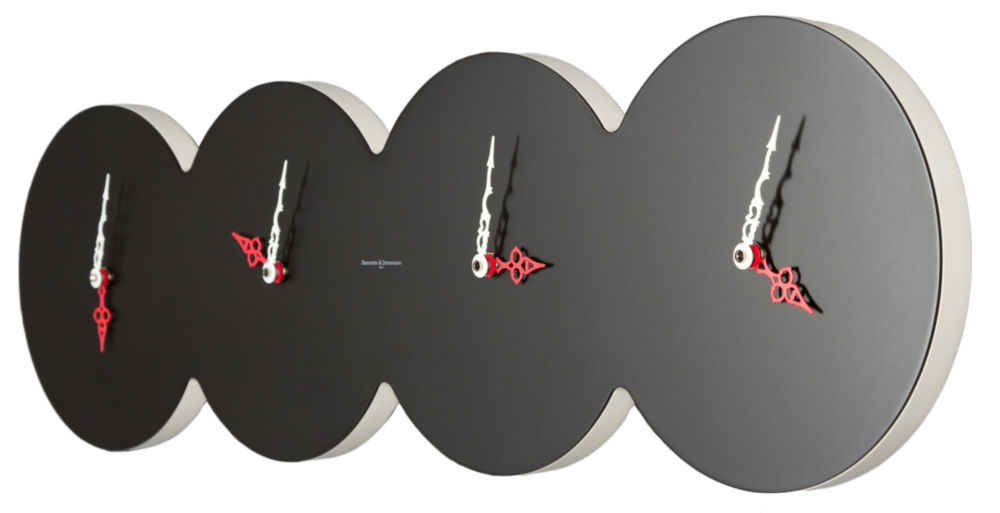 Купить Часы настенные CUATRO Lacquered Black в интернет магазине дизайнерской мебели и аксессуаров для дома и дачи