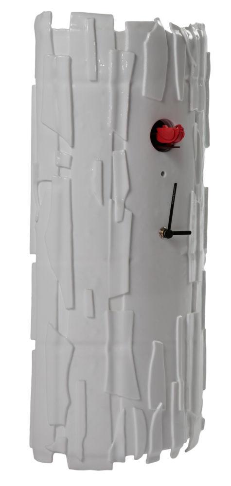 Часы настенные с кукушкой BRICCHETTO Murano glass White Red bird, 00182