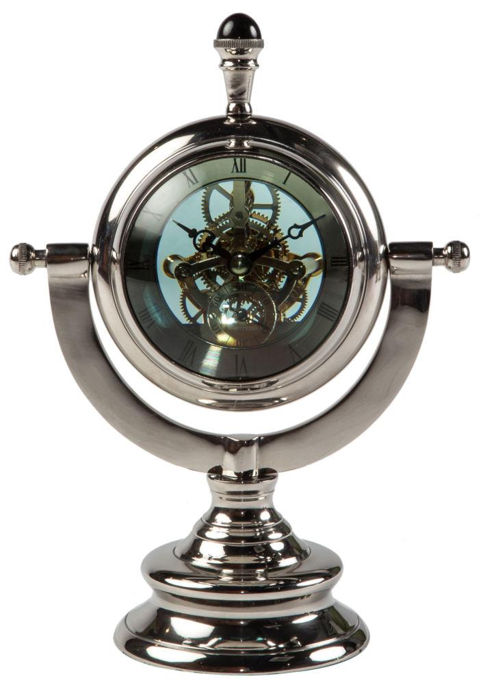 Часы настольные TABLE CLOCK ALUMINIUM 42567, 05865