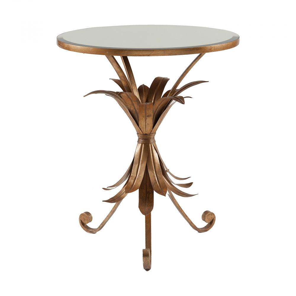 Кофейный столик Perugia DG-HOME Кофейный столик Perugia — это невероятно красивый  экземпляр, выполнен в стиле модерн. Большая  круглая зеркальная столешница расположена  на подстолье из кованого металла бронзового  цвета. Роскошный, великолепный и изысканный  зеркальный столик придаст интерьеру нотки  богемности и шика. Хотите преобразить свой  интерьер и внести в него модные штрихи и  оригинальность? Тогда столик Perugia для вас.