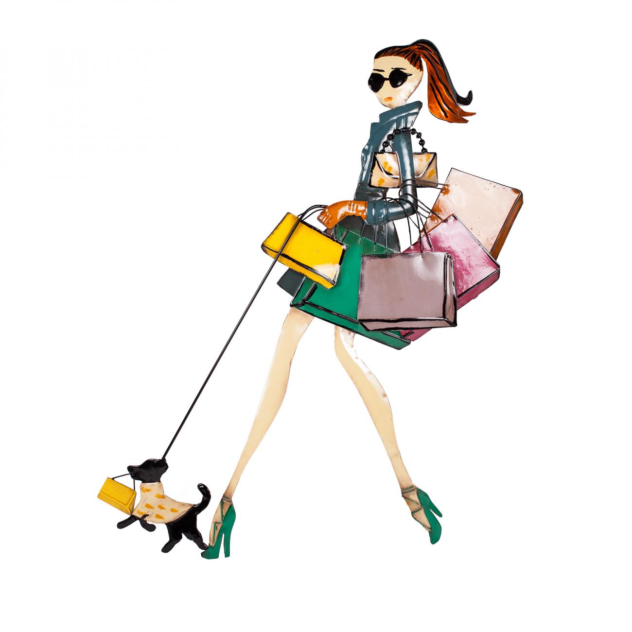 Купить Декоративное настенное панно Fashion Girl в интернет магазине дизайнерской мебели и аксессуаров для дома и дачи
