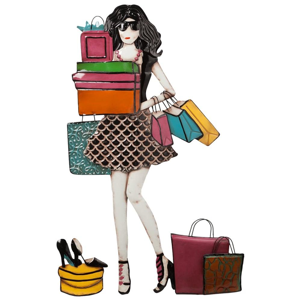 Декоративное настенное панно Shopogolic Girl DG-HOME Декоративные настенные панно легко и быстро  украсят, оживят или даже преобразят ваш  интерьер, помогут создать уют и интересную  обстановку. Пустая скучная стена в один  миг станет акцентной при правильно подобранном  декоре. Купите декоративное настенное панно  Shopogolic Girl — оригинальный, стильный и символичный  подарок для любительницы «пробежаться»  по бутикам.