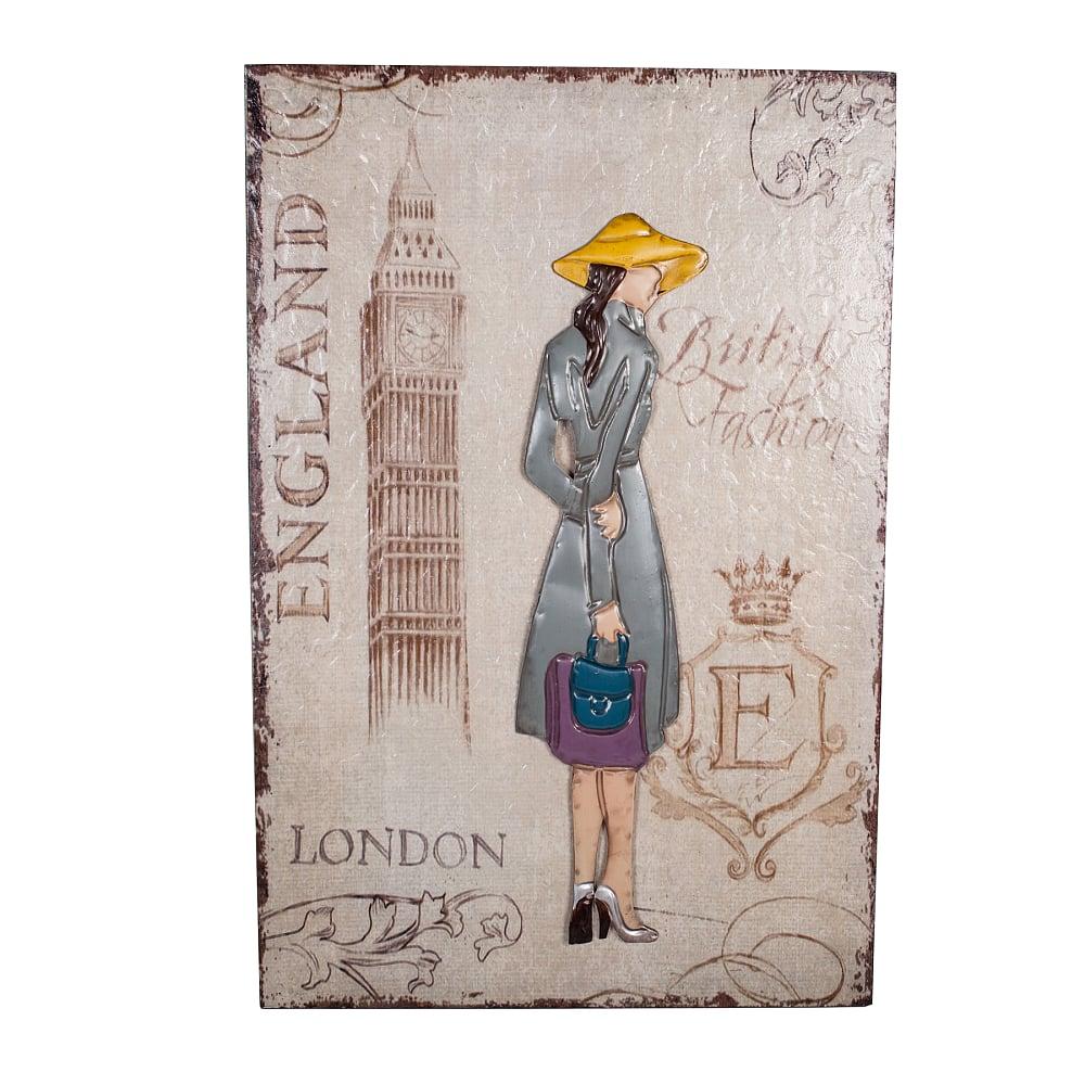 Фото Декоративное настенное панно London Girl. Купить с доставкой