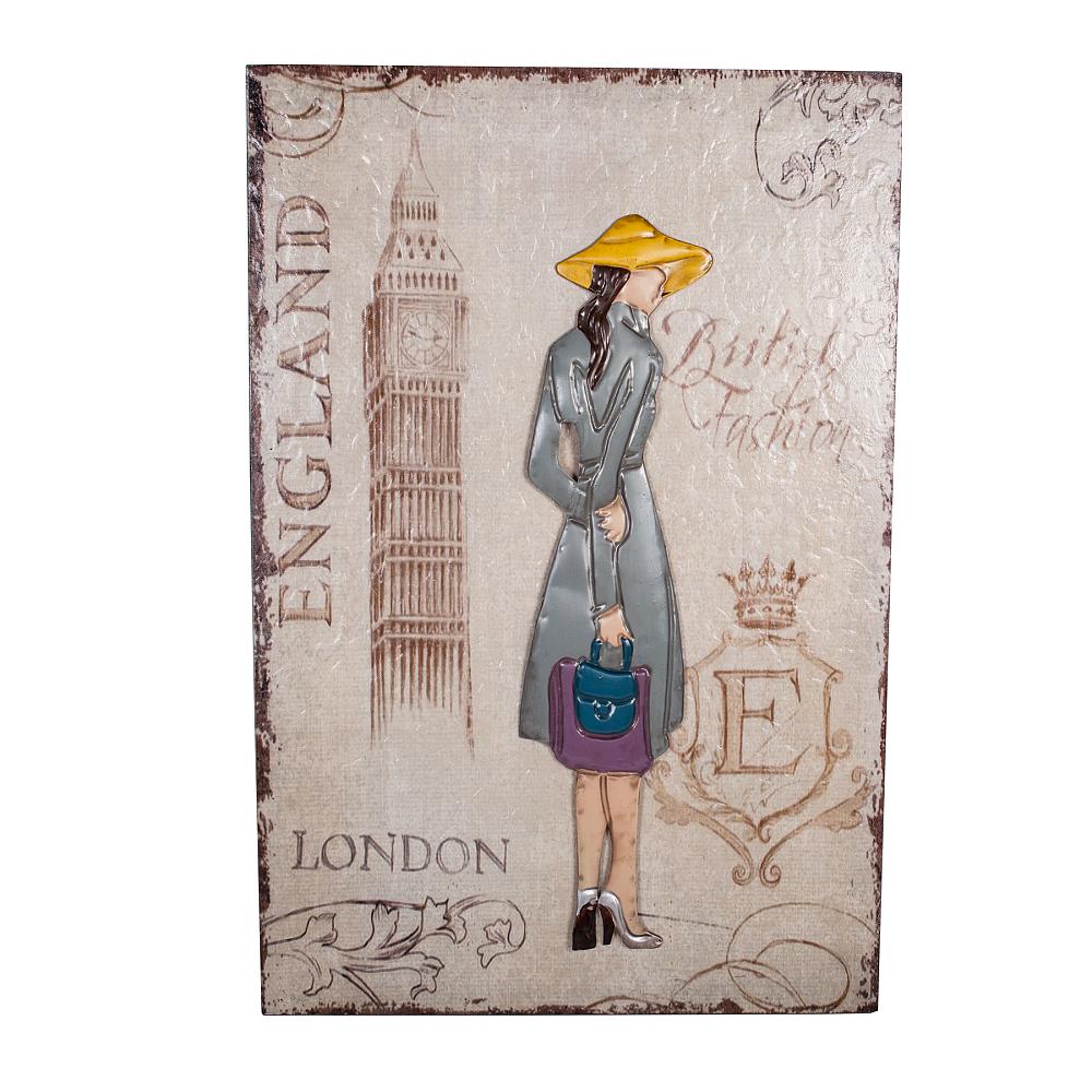 Декоративное настенное панно London Girl, DG-D-1222