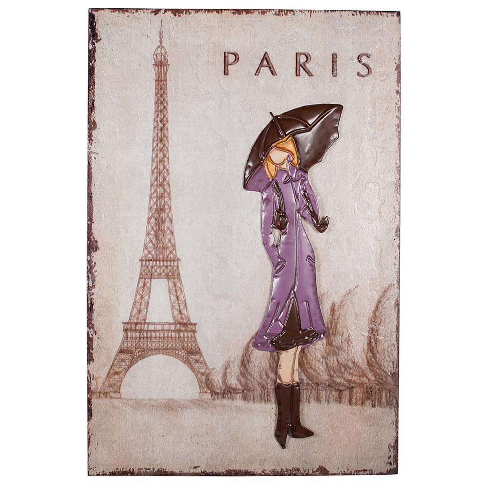 Декоративное настенное панно Paris Girl, DG-D-1223