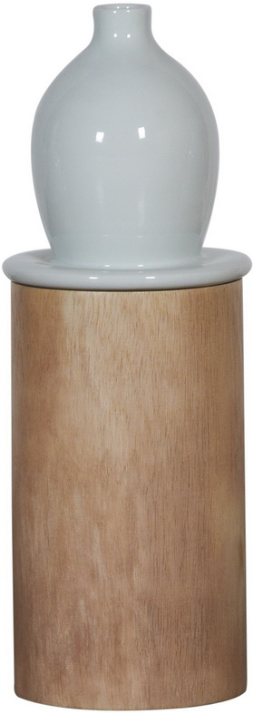 Ваза настольная Pillar Ceramic/wood / HC13055 (Pillar)