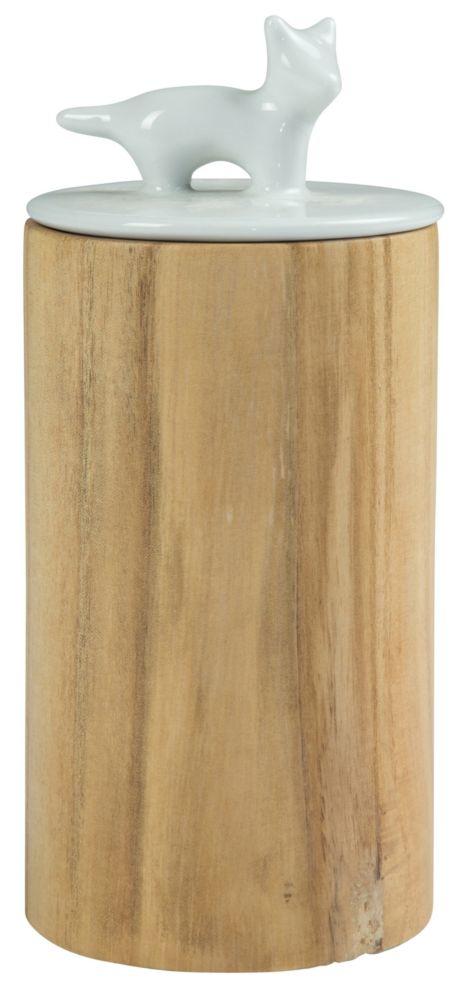 Купить Ваза настольная Guard cat wood tall в интернет магазине дизайнерской мебели и аксессуаров для дома и дачи