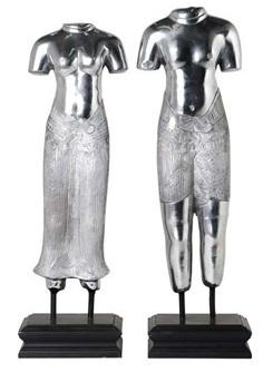 Купить Декор Thai Lovers (комплект из 2 шт) - Polished aluminium / ACC05220 в интернет магазине дизайнерской мебели и аксессуаров для дома и дачи