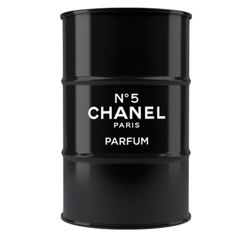Декоративная бочка Chanel №5  black XL