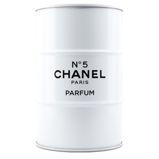Купить Декоративная бочка Chanel №5 white XL в интернет магазине дизайнерской мебели и аксессуаров для дома и дачи