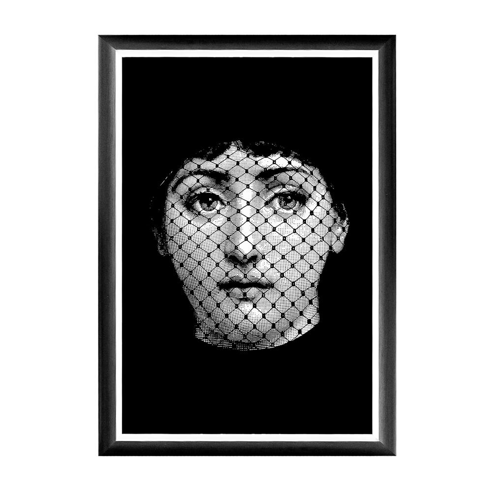 Купить Арт-постер Вуаль Fornasetti в интернет магазине дизайнерской мебели и аксессуаров для дома и дачи