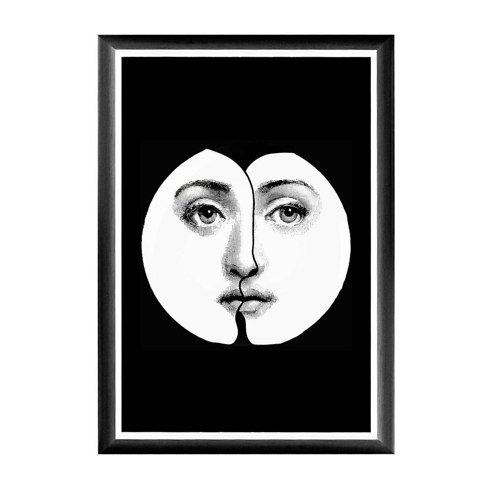 Купить Арт-постер Инь-Янь Fornasetti в интернет магазине дизайнерской мебели и аксессуаров для дома и дачи