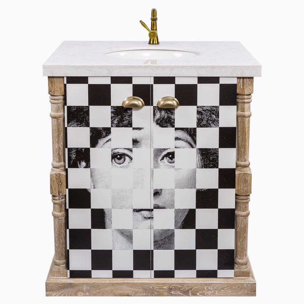 Купить Тумба с раковиной Эксельсиор Снег Fornasetti в интернет магазине дизайнерской мебели и аксессуаров для дома и дачи