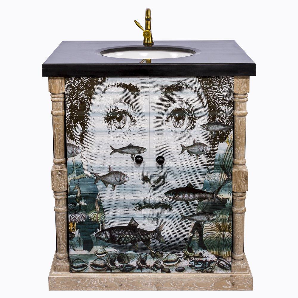 Купить Тумба с раковиной Аквариум Нуар Fornasetti в интернет магазине дизайнерской мебели и аксессуаров для дома и дачи