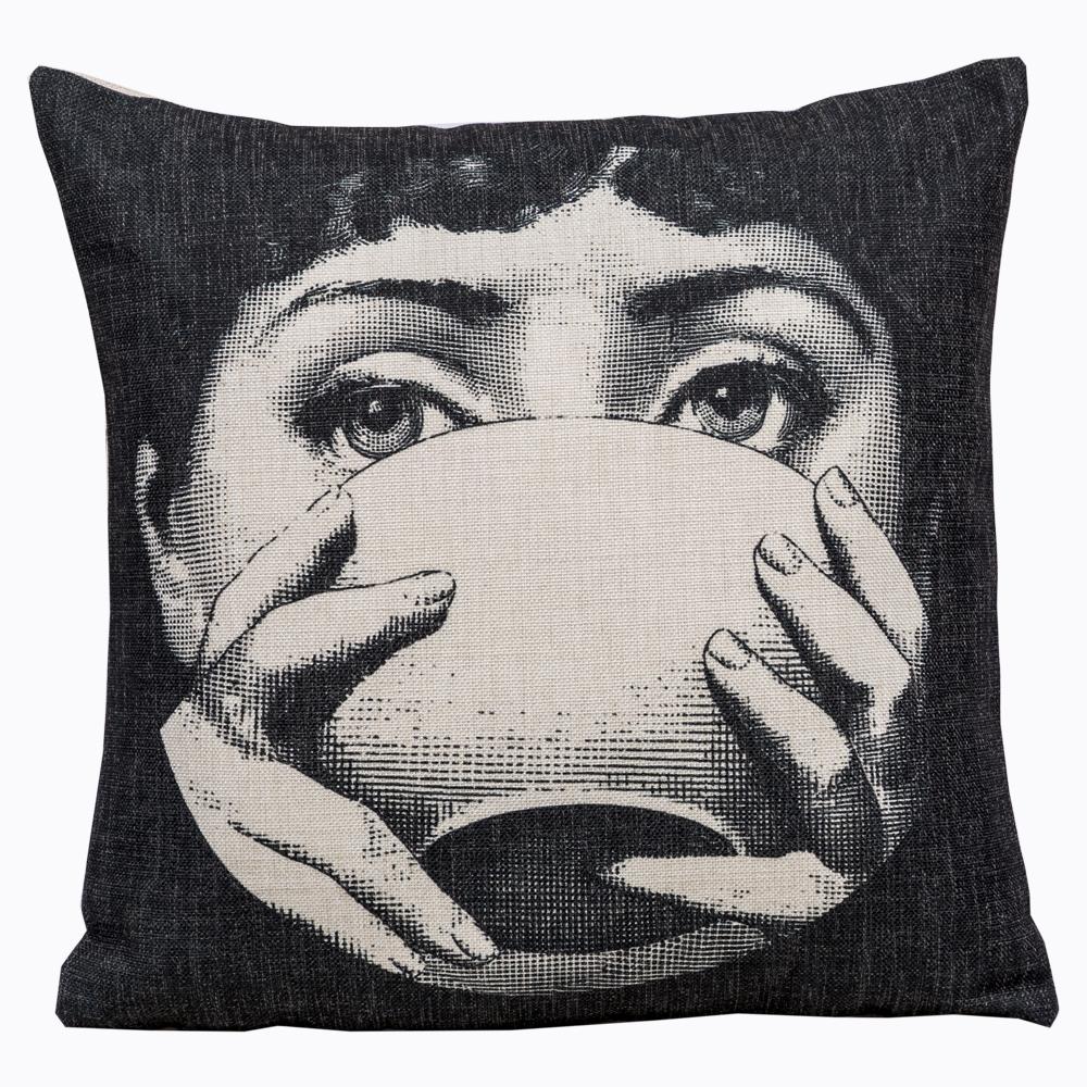 Купить Арт-подушка Tea Time Fornasetti в интернет магазине дизайнерской мебели и аксессуаров для дома и дачи