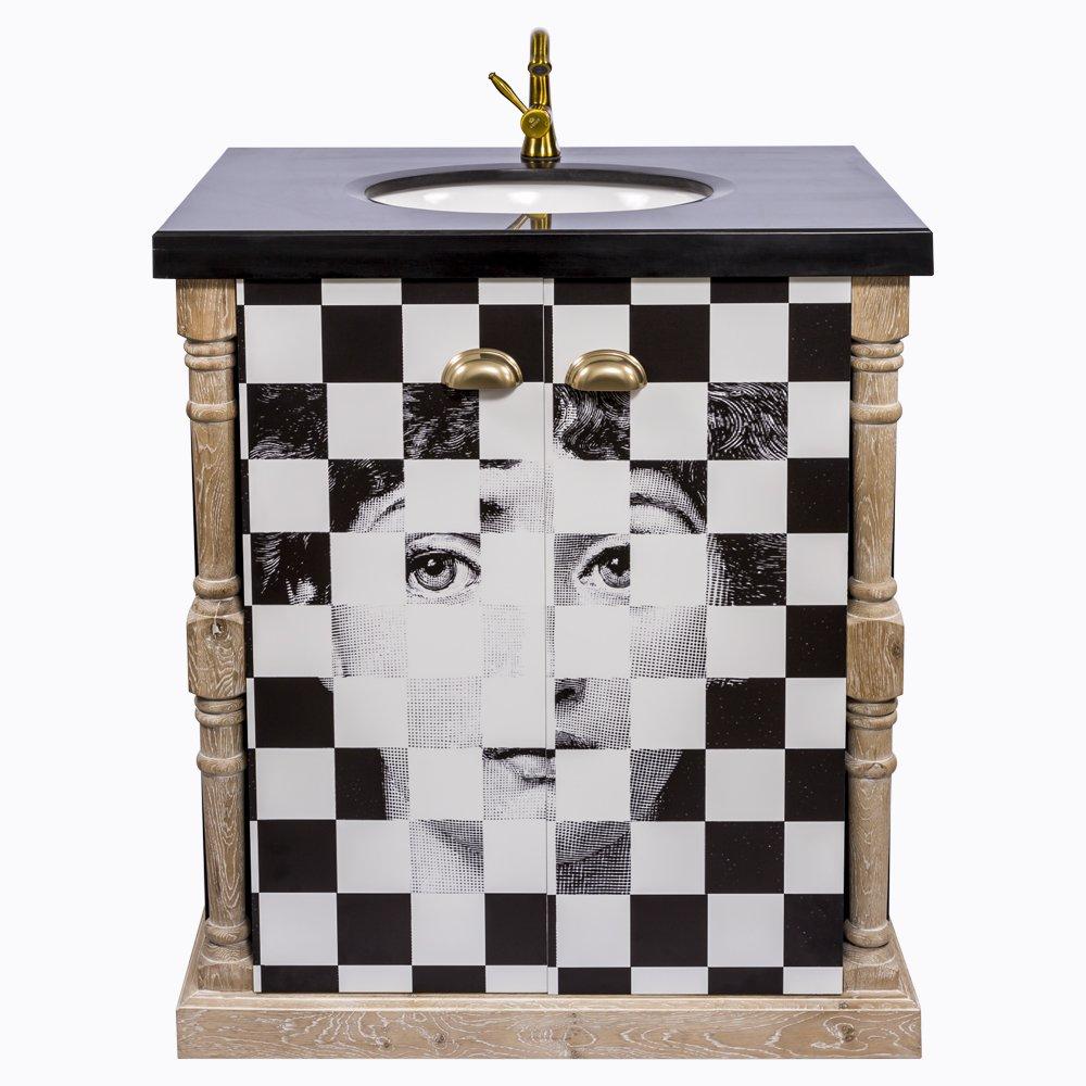 Купить Тумба с раковиной Эксельсиор Нуар Fornasetti в интернет магазине дизайнерской мебели и аксессуаров для дома и дачи