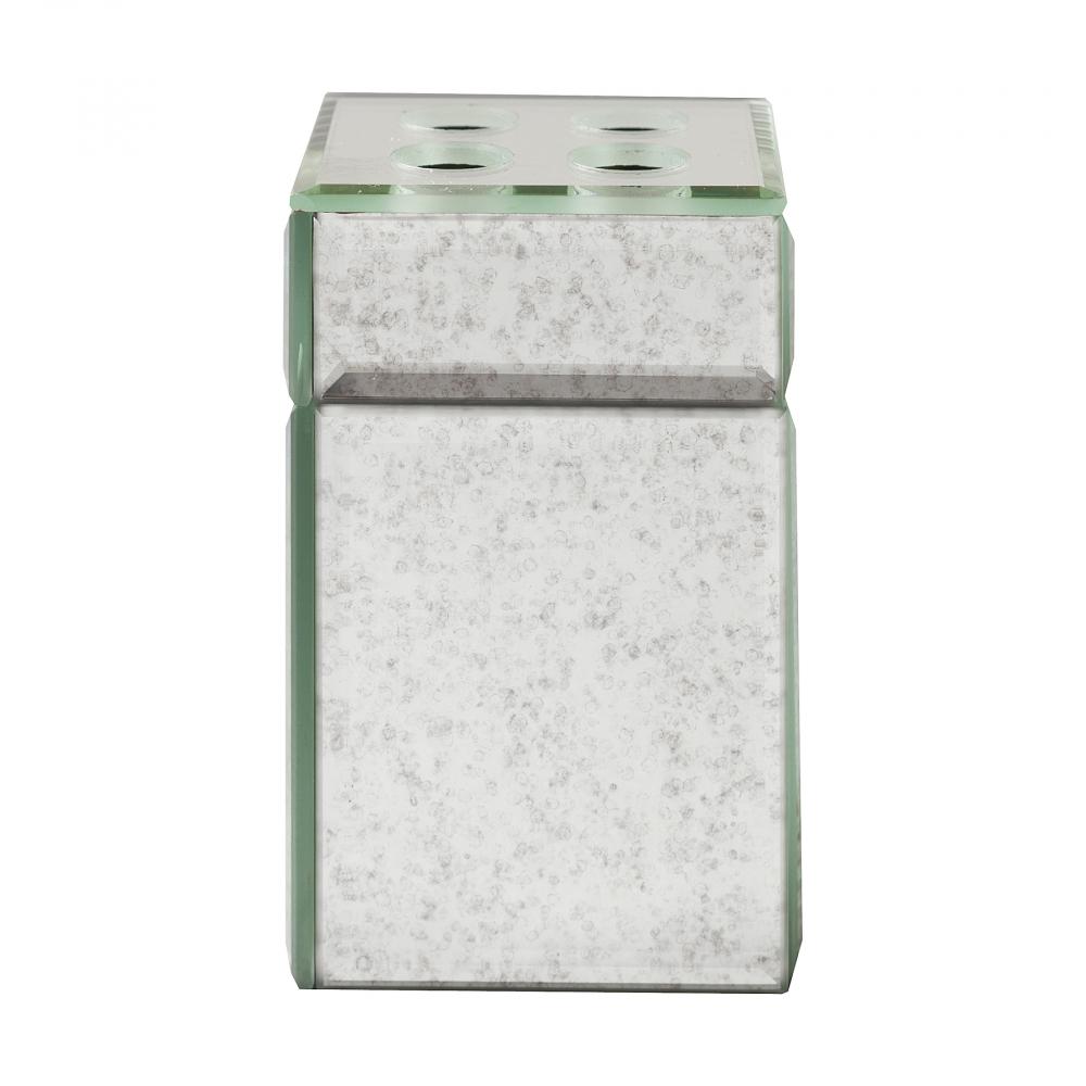 Подставка для зубных щеток MontaubanАксессуары для ванной<br><br><br>Цвет: Зеркальный<br>Материал: Пластик, Зеркало<br>Вес кг: 0,25<br>Длина см: 8<br>Ширина см: 8<br>Высота см: 12