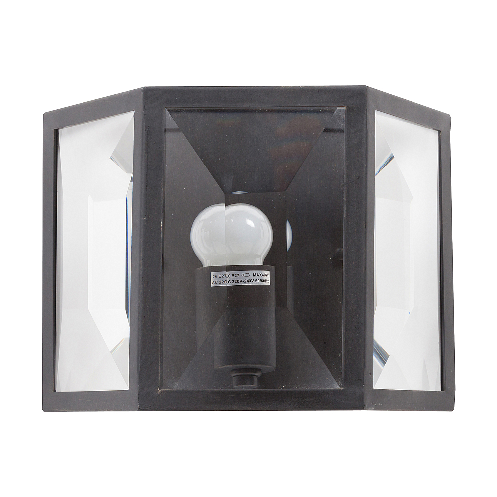 Бра CapsulettoБра и канделябры<br>Очень интересное декоративное бра Capsuletto <br>прекрасно разместится на стене любого помещения <br>в вашей квартире или доме, подчеркнет декоративные <br>детали, шик и ваш вкус. Необычная форма со <br>стеклянными стенками, имитирующая старинный <br>газовый фонарь, придаст интерьеру в стиле <br>кантри или прованс неповторимости.<br><br>Цвет: Чёрный, Прозрачный<br>Материал: Металл, Хрусталь<br>Вес кг: 4,2<br>Длина см: 27<br>Ширина см: 16<br>Высота см: 22