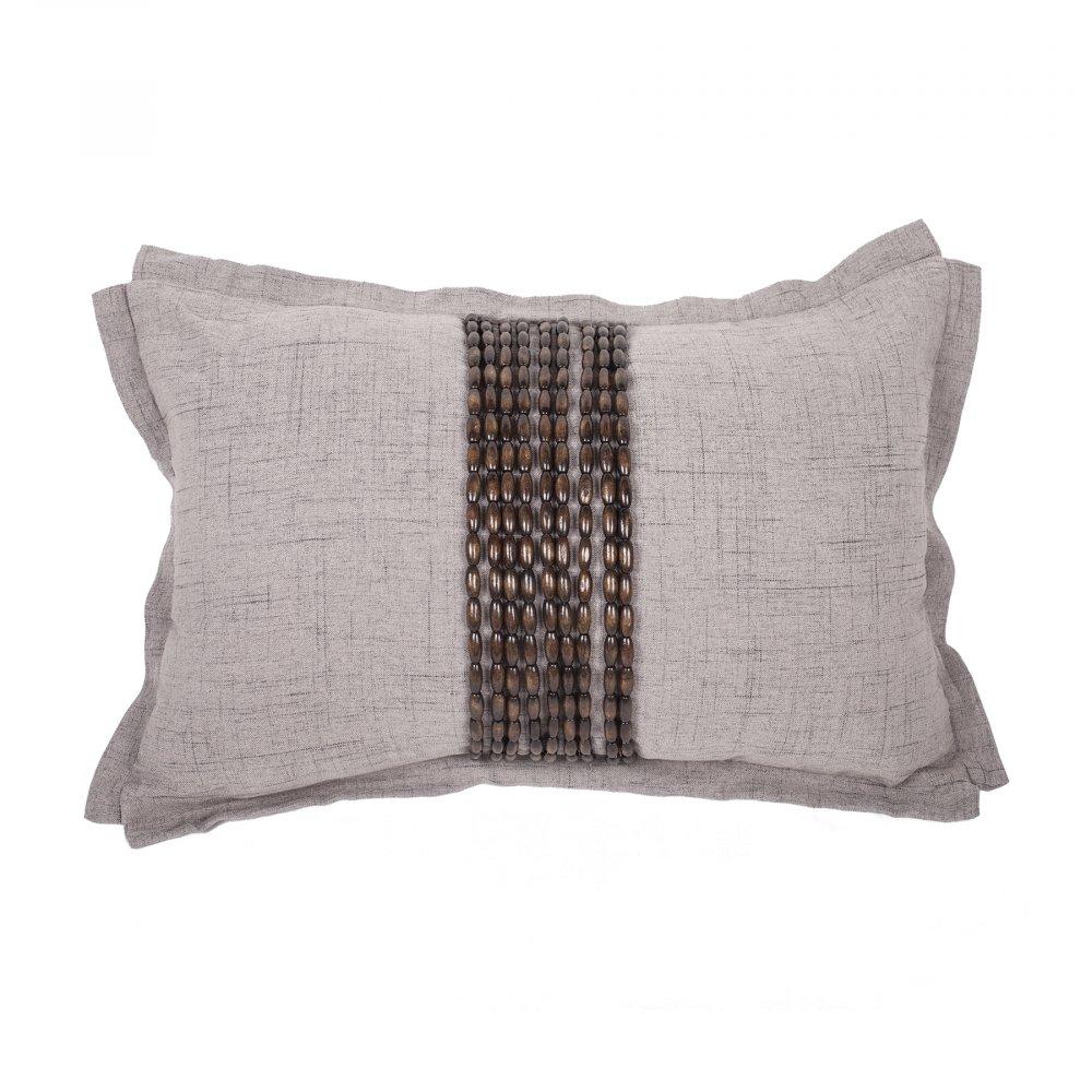 Декоративная подушка Handwork Exclusive Прямоугольная • Светло-серая