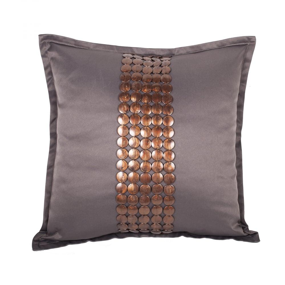 Декоративная подушка Handwork Exclusive Квадратная Темно-серая, DG-D-PL513