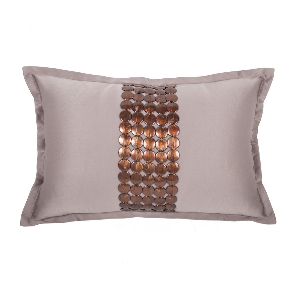 Декоративная подушка Handwork Exclusive Прямоугольная Бежевая, DG-D-PL516