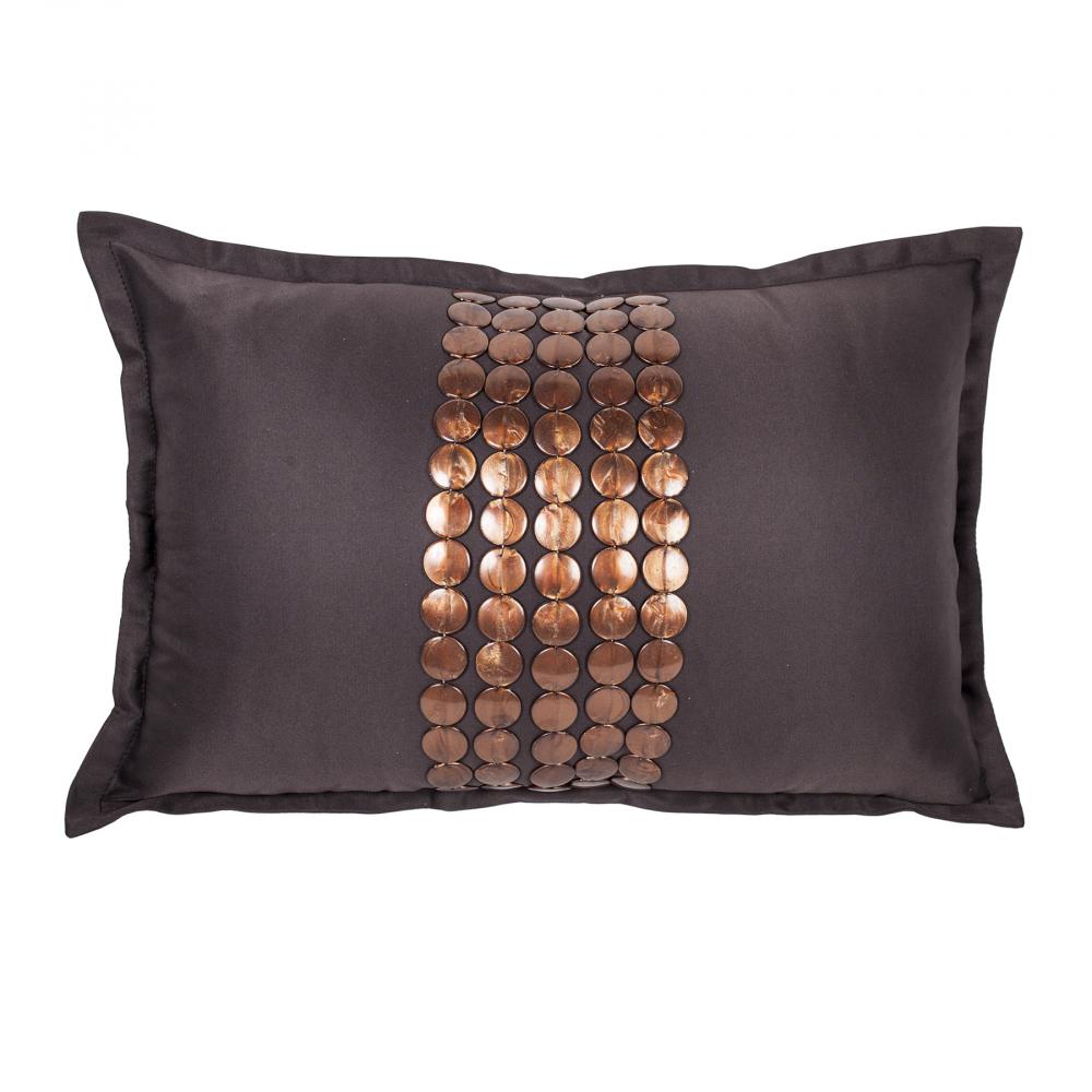 Декоративная подушка Handwork Exclusive Прямоугольная Коричневая, DG-D-PL518