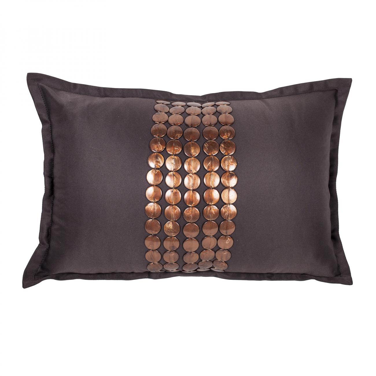 Декоративная подушка Handwork Exclusive Прямоугольная Коричневая | Подушки