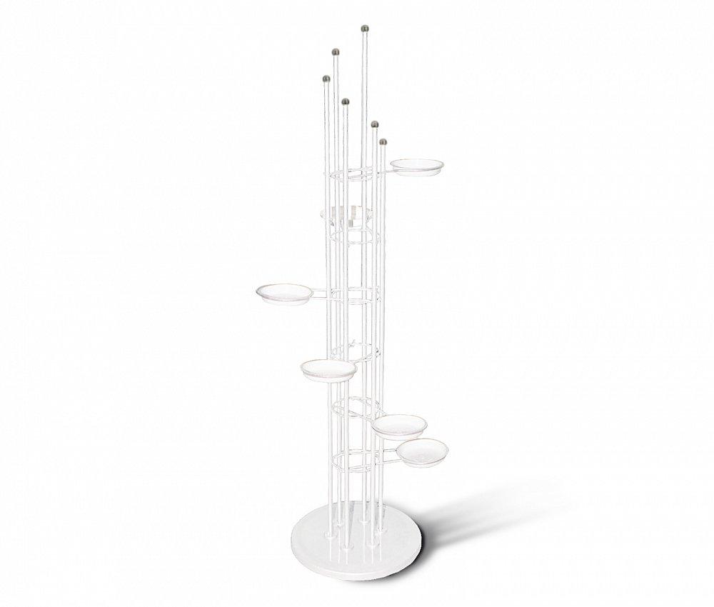 Подставка для цветов Spiral бело-серая, K-D-001