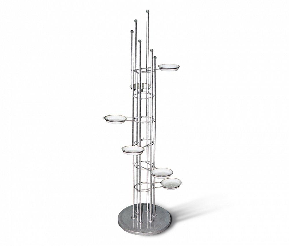 Подставка для цветов Spiral серебро серый, K-D-002