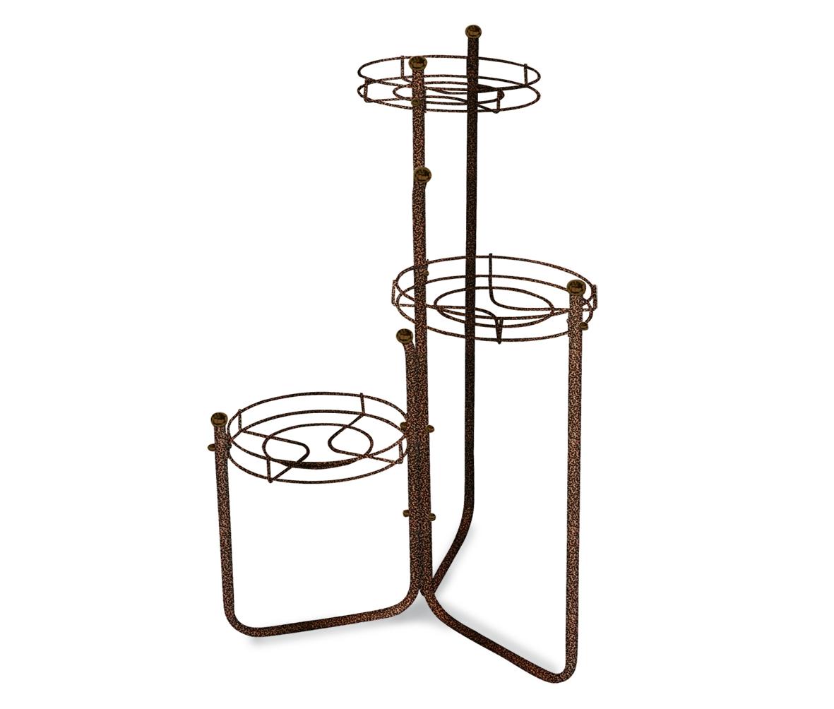 Купить Подставка для цветов Kaskad 2 медь коричневая в интернет магазине дизайнерской мебели и аксессуаров для дома и дачи