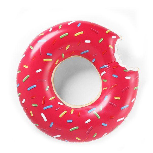Купить Надувной круг Ponchic красный в интернет магазине дизайнерской мебели и аксессуаров для дома и дачи
