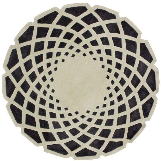 Ковер круглый серо чёрный 100 см от DG-home