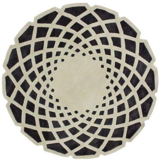Ковер круглый серо чёрный 180 см от DG-home